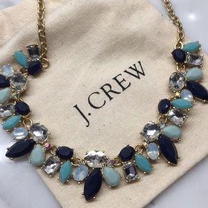 NWT J. Crew Blue Tonal Statement Necklace